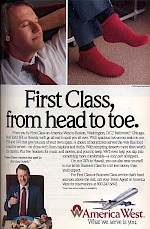 First Class benefits ad, 1990
