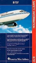 Boeing 737 Safety Card, 3/93