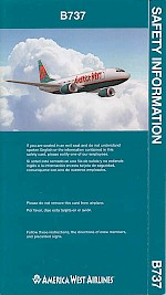 Boeing 737 safety card, 2001