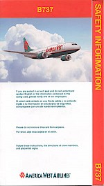 Boeing 737 safety card, 2002
