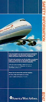 Boeing 747 Safety Card, 11/1991