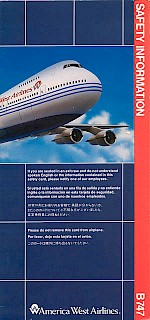 Boeing 747 safety card, 1991