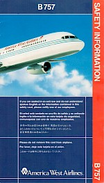 Boeing 757 Safety Card, 11/91