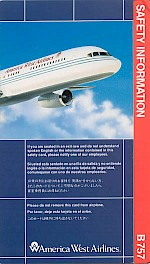 Boeing 757 safety card, 1991