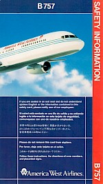 Boeing 757 Safety Card, 1/93