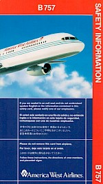 Boeing 757 Safety Card, 8/1994