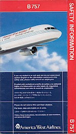 Boeing 757 safety card, 1995