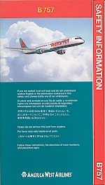 Boeing 757 safety card, 2000