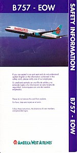 Boeing 757 safety card, 2005, EOW