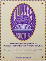 Washington Dulles card, 1997